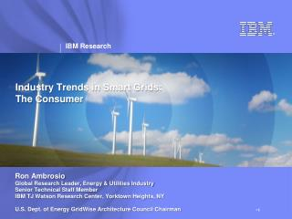 Industry Trends in Smart Grids: The Consumer