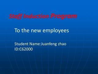 Staff Induction Program