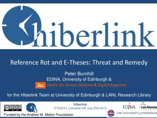 Reference Rot and E-Theses: Threat and Remedy