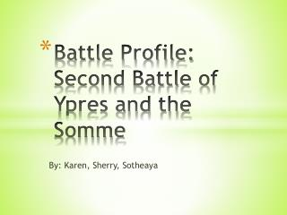 Battle Profile: Second Battle of Ypres and the Somme