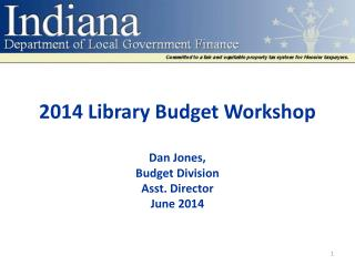 2014 Library Budget  Workshop