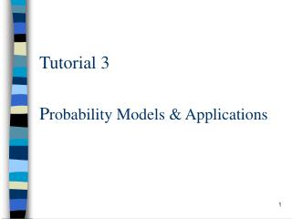 Probability Models  Applications