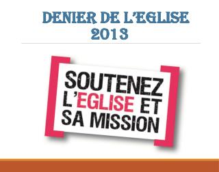 Denier de l'Eglise  2013