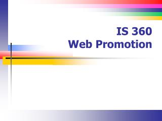 IS 360 Web Promotion