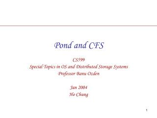 Pond and CFS