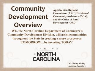 Community Development Overview