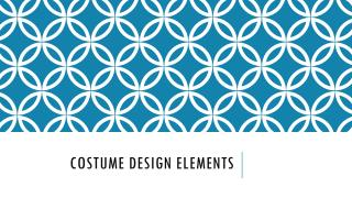 Costume Design Elements