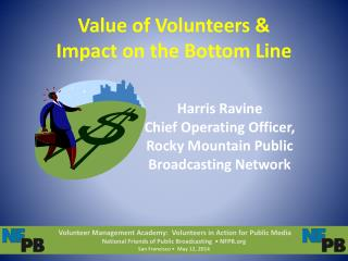 Value of Volunteers & Impact on the Bottom Line
