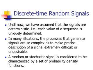 Discrete-time Random Signals