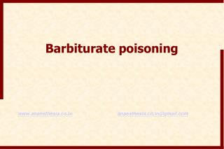 Barbiturate poisoning