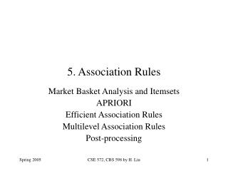 5. Association Rules