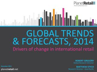 GLOBAL TRENDS    & FORECASTS, 2014