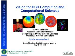 Vision for OSC Computing and Computational Sciences