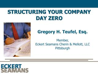 STRUCTURING YOUR COMPANY DAY ZERO