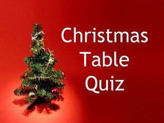 Christmas Table Quiz