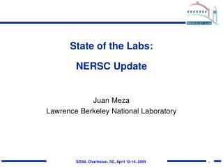 State of the Labs: NERSC Update