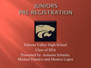 Juniors Pre-Registration