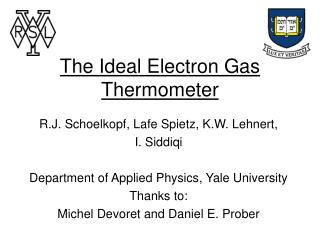 The Ideal Electron Gas Thermometer