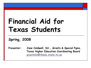 Financial Aid for Texas Students