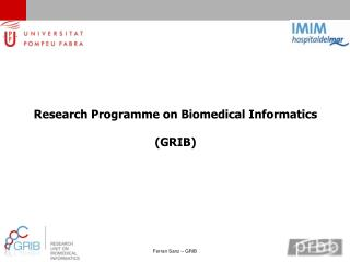 Research Programme on Biomedical Informatics (GRIB)