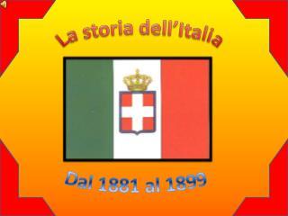 La storia dell'Italia