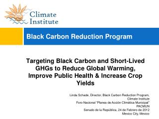 Black Carbon Reduction Program