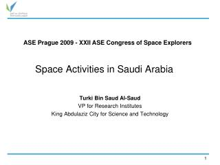 Space Activities in Saudi Arabia