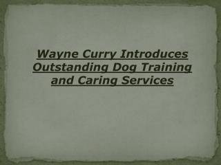 Wayne Curry Introduces Outstanding Dog Training and Caring S