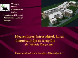 Idegrendszeri károsodások korai diagnosztikája és terápiája   dr. Vekerdy Zsuzsanna Konszenzus konferencia Seregélyes 2