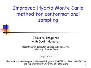Improved Hybrid Monte Carlo method for conformational sampling