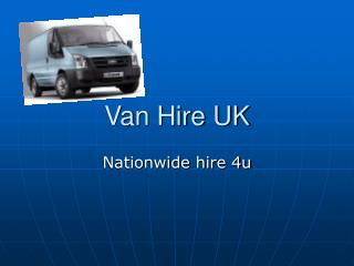 Van Hire UK