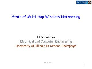 State of Multi-Hop Wireless Networking