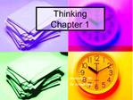 Thinking  Chapter 1