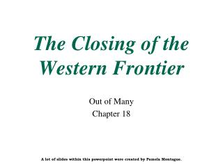 The Closing of the Western Frontier