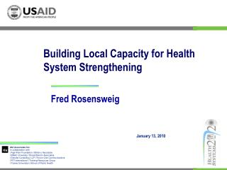 Building Local Capacity for Health System Strengthening