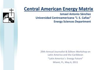 Central American  Energy Matrix
