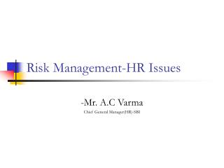 Risk Management-HR Issues