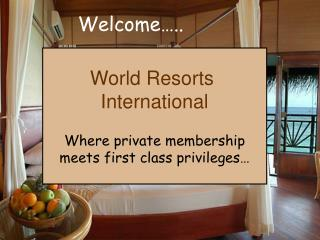 World Resorts International