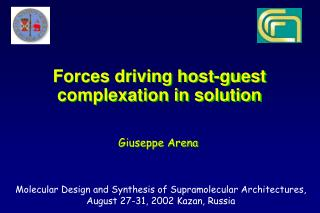 Forces driving host-guest complexation in solution