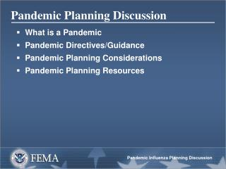 Pandemic Planning Discussion