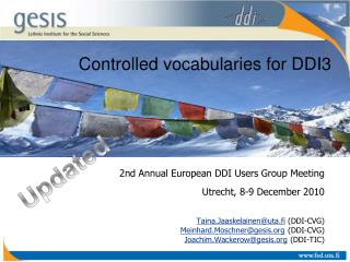 Controlled vocabularies for DDI3