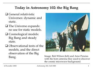Today in Astronomy 102: the Big Bang