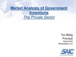 Market Analysis of Government Inventions The Private Sector