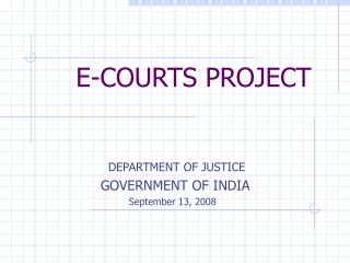 E-COURTS PROJECT