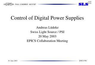 Control of Digital Power Supplies