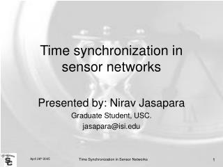 Time synchronization in sensor networks