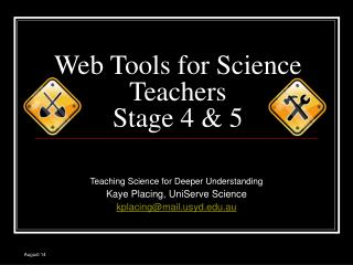 Web Tools for Science Teachers Stage 4 & 5