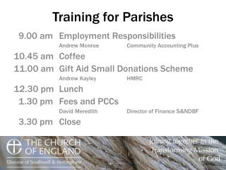 Training for Parishes