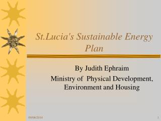 St.Lucia's Sustainable Energy Plan