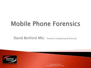 Mobile Phone Forensics